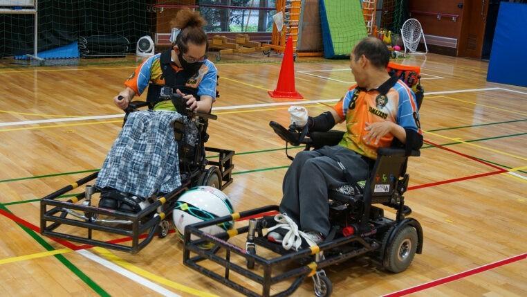 「電動車椅子サッカーについて」の写真